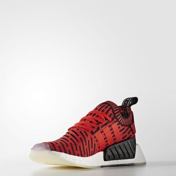 adidas Originals NMD_R2 Primeknit (BB2910) - Core rouge/Footwear blanc -Unisex