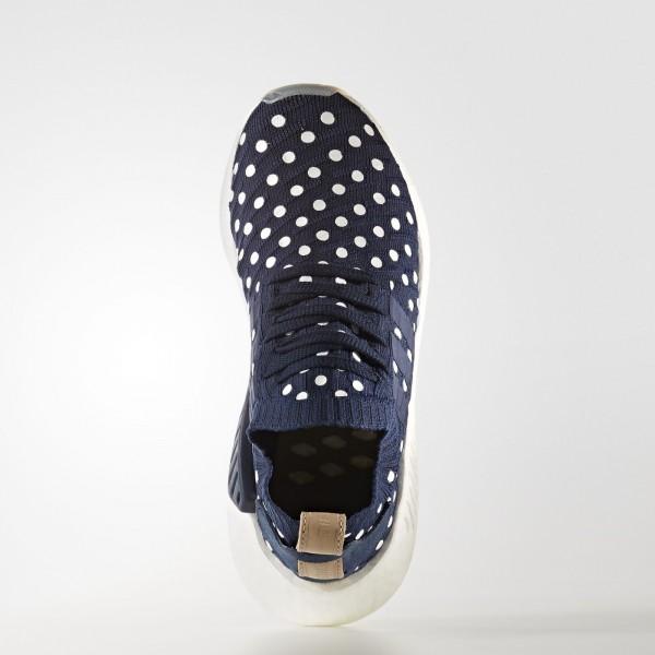 adidas Femme Originals NMD_R2 Primeknit (BA7560) - Collegiate Navy/Footwear blanc