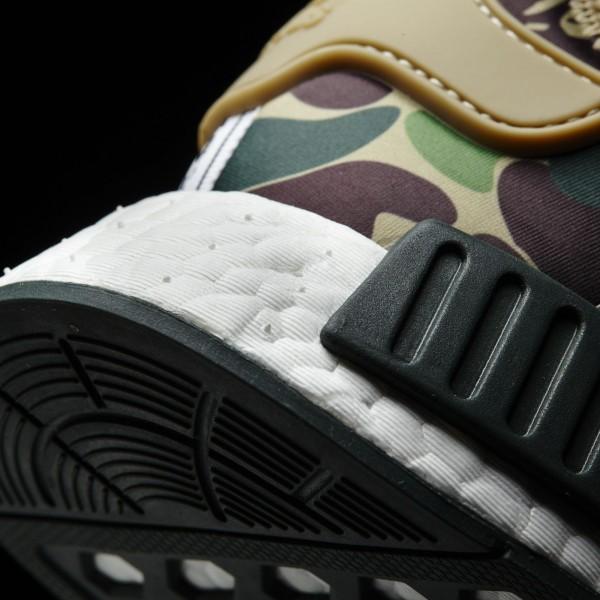 adidas Originals NMD_R1 Bape Camouflage (BA7326) - Clear marron/Footwear blanc/gris -Unisex