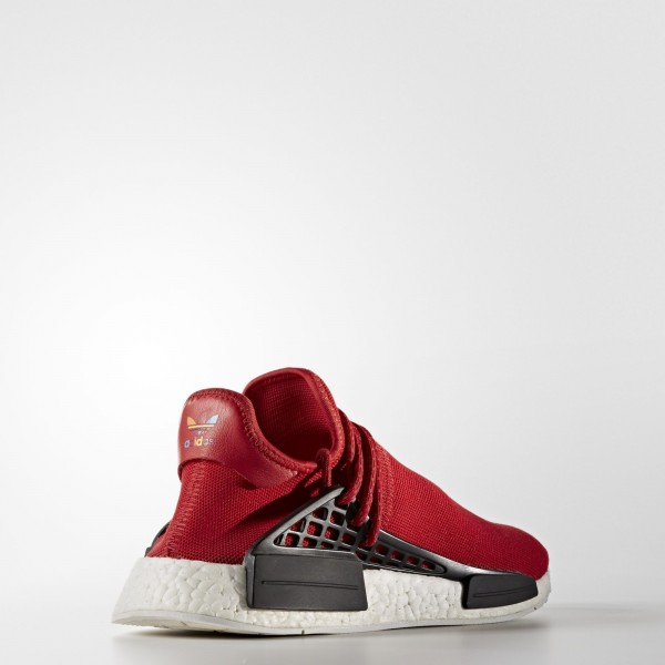 adidas Homme Originals Pharrell Williams Hu Race NMD (BB0616) - Scarlet/Scarlet/ blanc