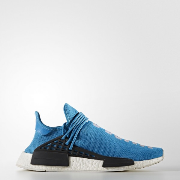 adidas Homme Originals Pharrell Williams Hu Race NMD (BB0618) - Sharp Bleu/Sharp Bleu/ blanc