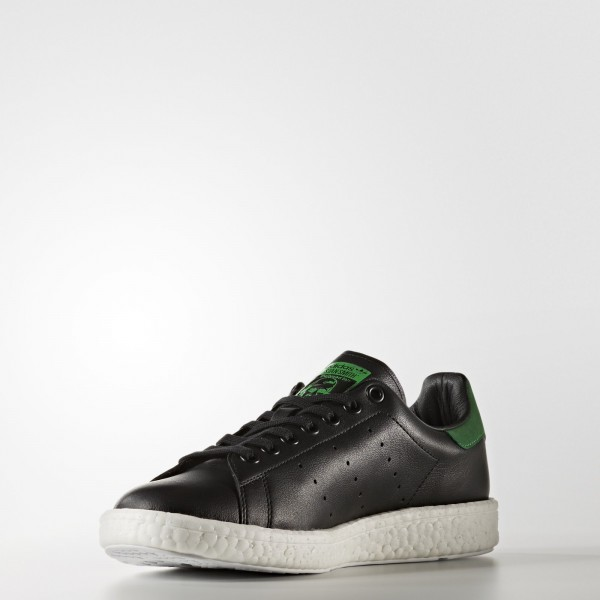 adidas Homme Originals Stan Smith Boost (BB0009) - Core Noir/vert