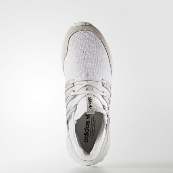 adidas Originals Tubular Radial Primeknit (S76714) - Vintage blanc/ blanc/Core Noir -Unisex