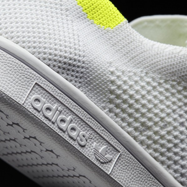 adidas Femme Originals Stan Smith Primeknit (BB5147) - Footwear blanc/Solar Jaune