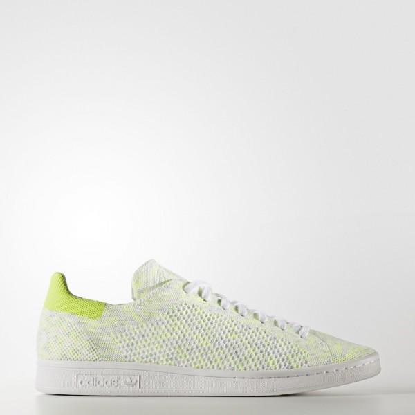 adidas Originals Stan Smith Primeknit (BA7439) - Footwear blanc/Solar Jaune -Unisex