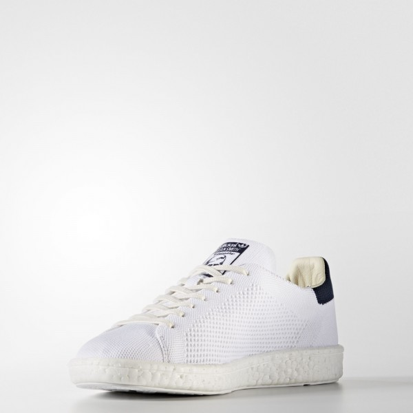 adidas Originals Stan Smith Boost Primeknit (BB0012) - Footwear blanc/Collegiate Navy -Unisex