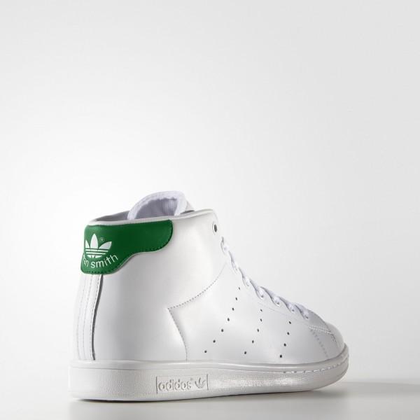 adidas Originals Stan Smith Mid (S75028) - blanc/vert -Unisex