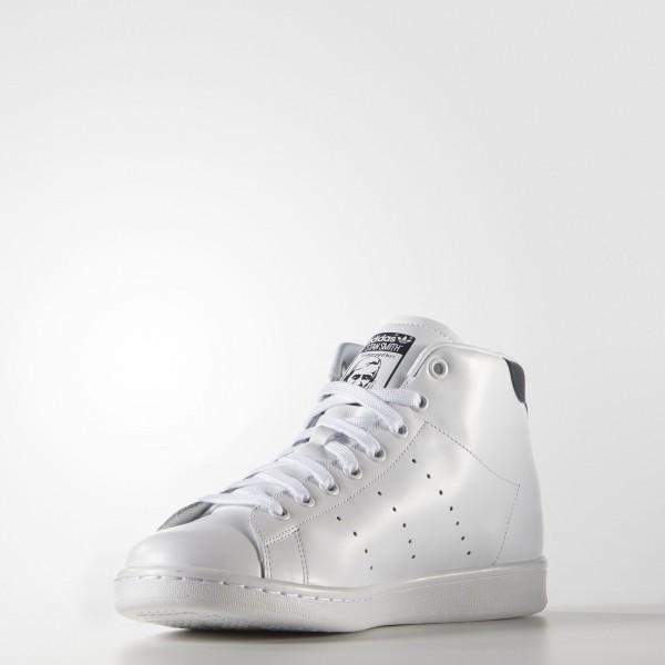 adidas Originals Stan Smith Mid (S75026) - blanc/Collegiate Navy -Unisex