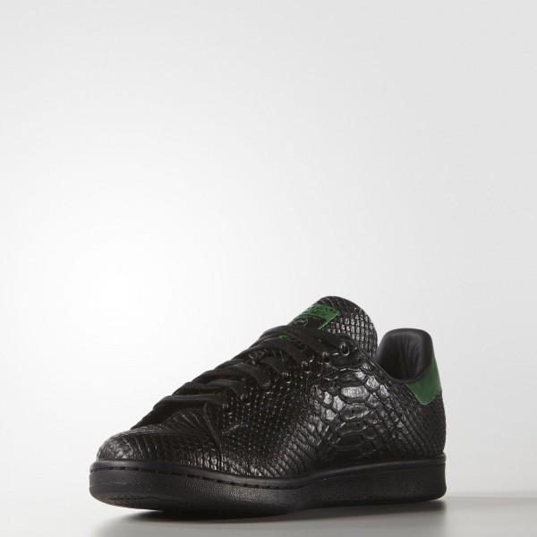 adidas Originals Stan Smith (S80022) - Core Noir/Core Noir/vert  -Unisex