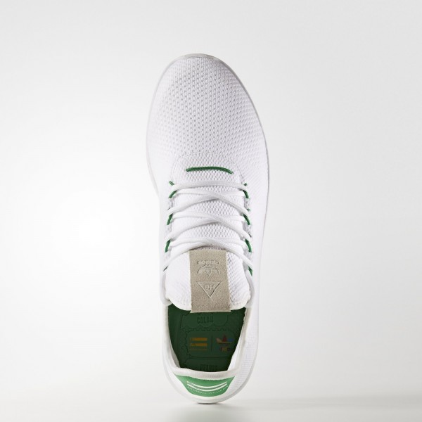 adidas Originals Pharrell Williams Tennis Hu Primeknit (BA7828) - Ftwr blanc / Ftwr blanc / vert -Unisex