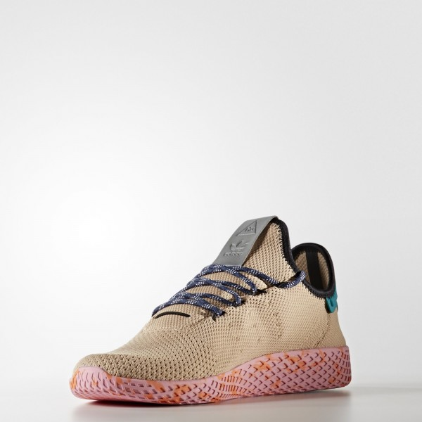 adidas Originals Pharrell Williams Tennis Hu (BY2672) - beige/Ftwr blanc / St Nomad Jaune / Night Marine -Unisex