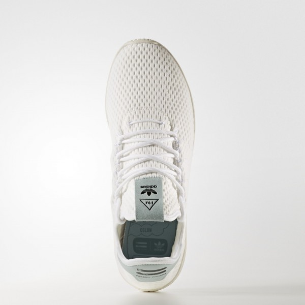 adidas Originals Pharrell Williams Tennis Hu (BY8716) - Footwear blanc/Footwear blanc/Tactile vert -Unisex