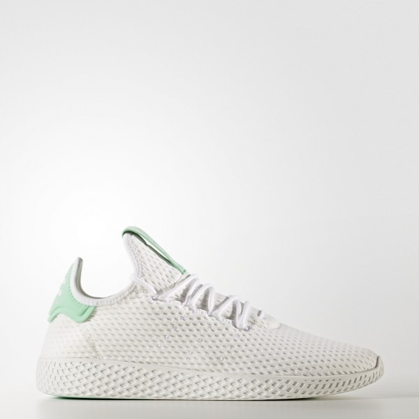 adidas Originals Pharrell Williams Tennis Hu (BY8717) - Footwear blanc/Footwear blanc/vert Glow -Unisex