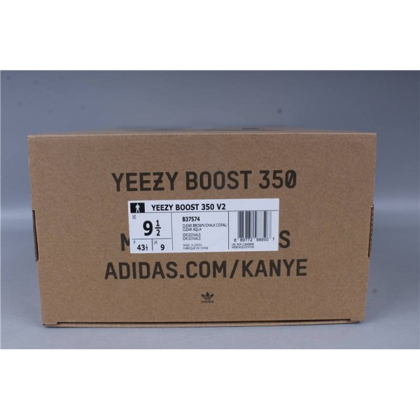 """adidas Yeezy Boost 350 V2 """"Chalk Coral"""" B37574 Glass gris Rose"""