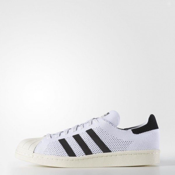 adidas Homme Originals Superstar 80s Primeknit (S82779) - blanc/Core Noir/or