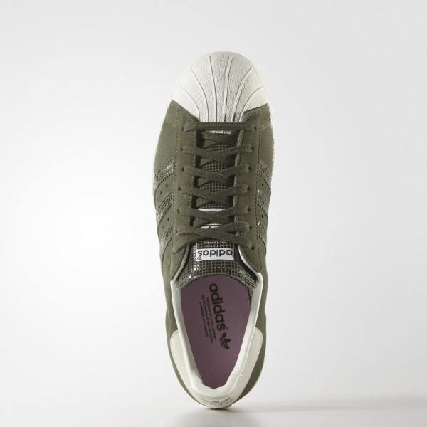 adidas Femme Originals Superstar 80s (S81324) - Olive Cargo S15-St / Olive Cargo S15-St / Off blanc