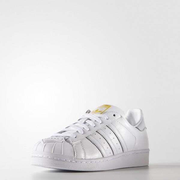 adidas Homme Originals Zaha Hadid Supershell Superstar (S83348) - blanc / blanc / Jaune