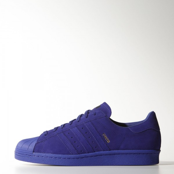 adidas Homme Originals Superstar 80s City Series (B32663) - Night Flash / Night Flash / Night Flash