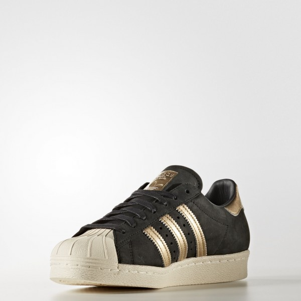 adidas Femme Originals Superstar 80s (BY9635) - Core Noir/Supplier Couleur/Off blanc