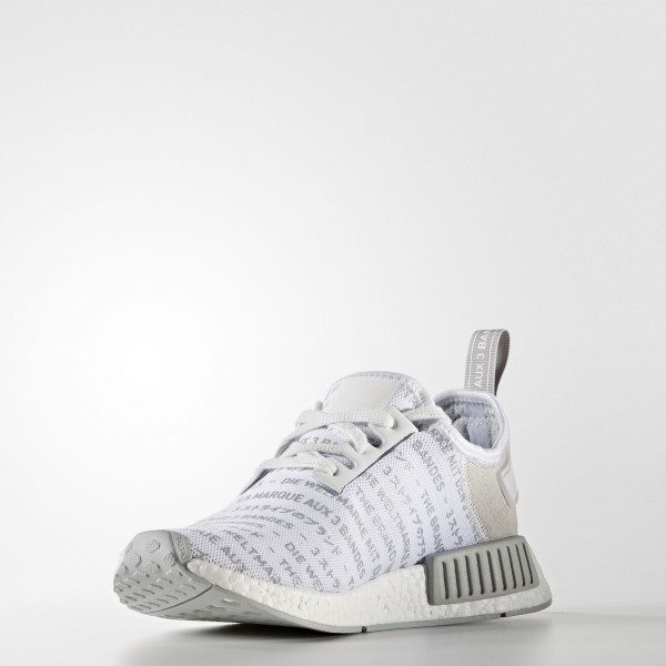 adidas Originals NMD_R1 (S76518) - blanc/ blanc/Ch Solid gris -Unisex