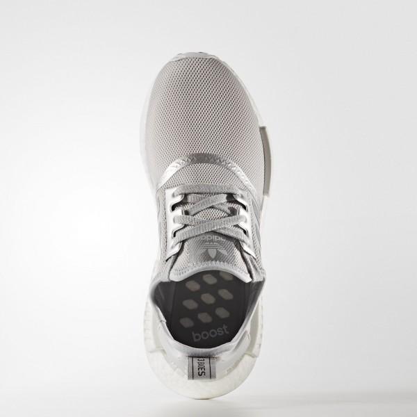 adidas Femme Originals NMD_R1 (S76004) - Matte argent/Matte argent/ blanc