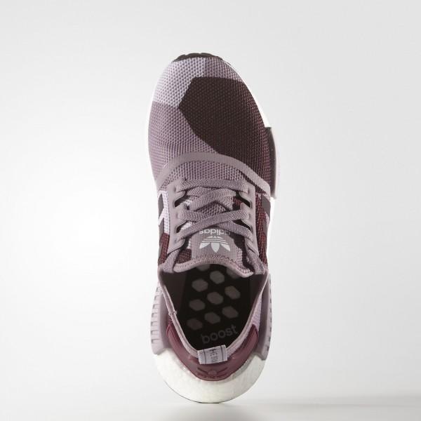 adidas Femme Originals NMD_R1 (S75721) - Blanch Violet/Night rouge
