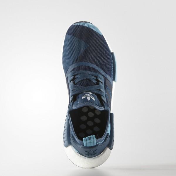 adidas Femme Originals NMD_R1 (S75722) - Blanch Bleu/Collegiate Navy