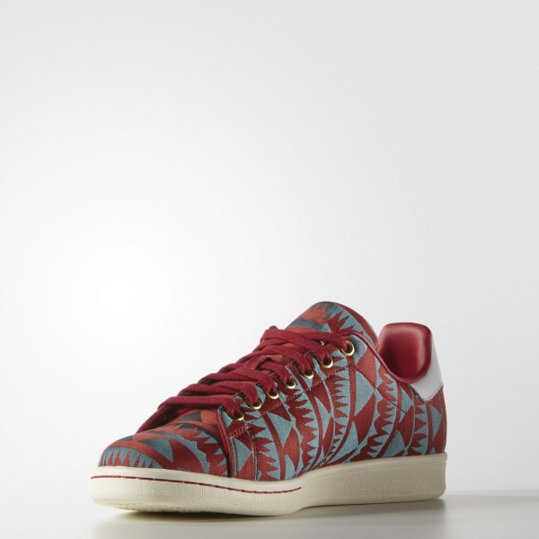 adidas Homme Originals Stan Smith (S75120) - Power rouge/or